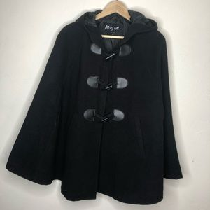 Nasty Gal Hooded Poncho Capelet with Pockets